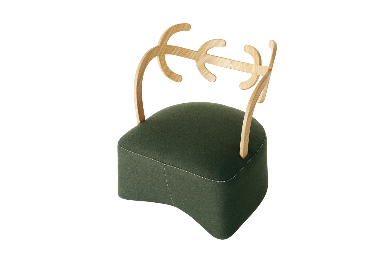 The Antler Chair With A Frame Made Of Wood Cappellini