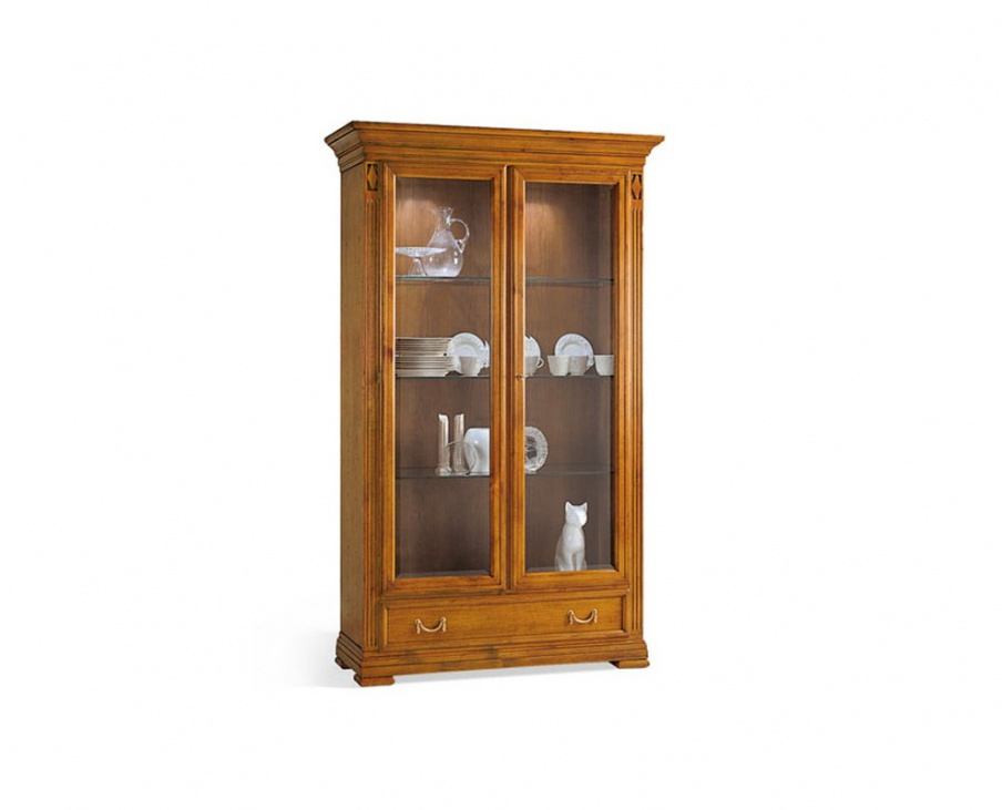 Showcase made of solid wood, SELVA