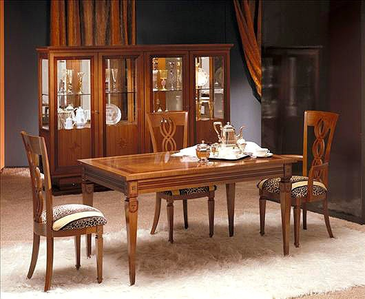 Dining Table Sliding From Solid Maple Or Walnut TA29 Carpanelli