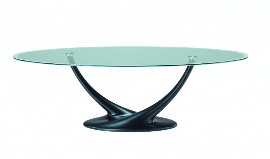 Dining table with top made of glass, Coral, Cattelan Italia