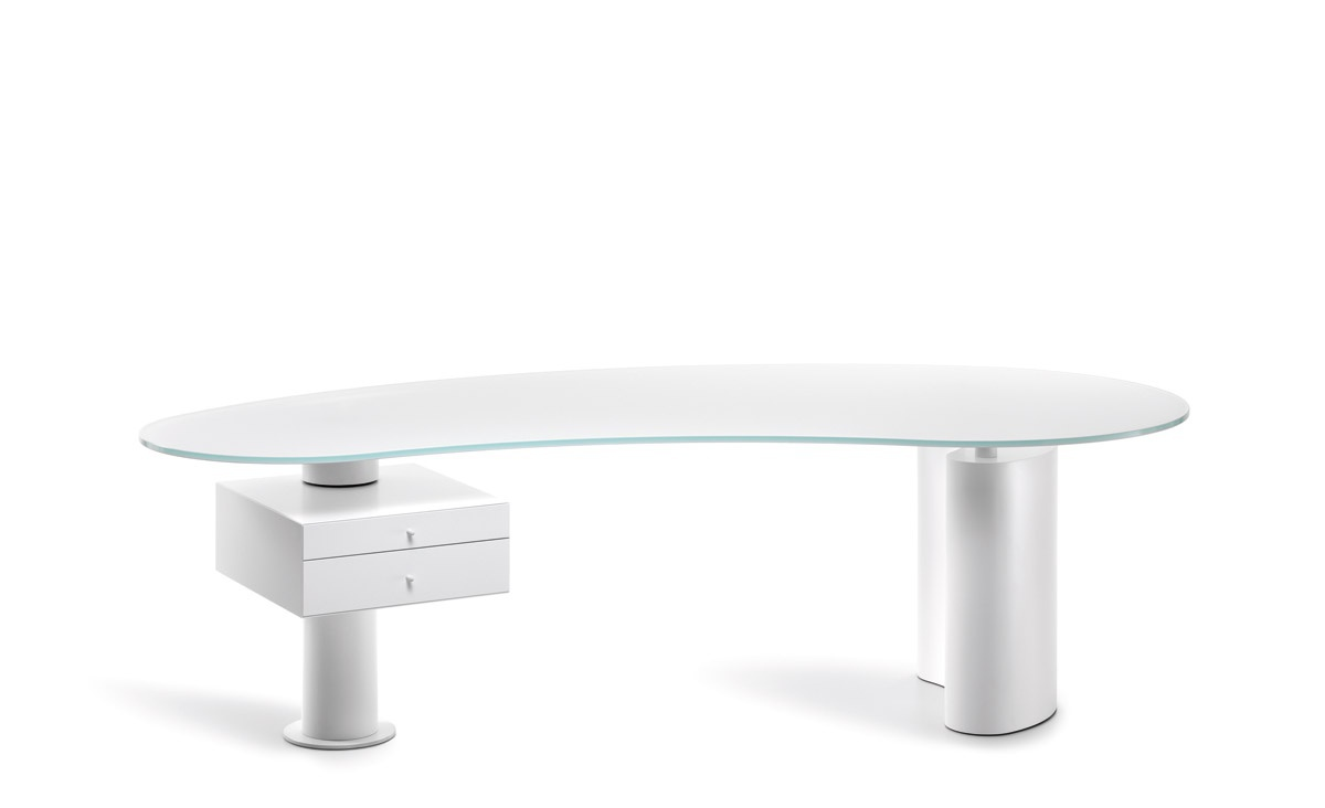 Lovely Working Table With Glass Table Top Houston, Cattelan Italia