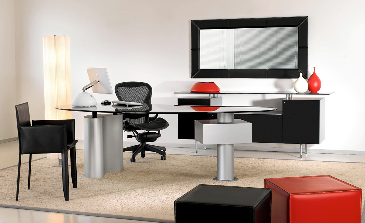 Wonderful Working Table With Glass Table Top Houston, Cattelan Italia