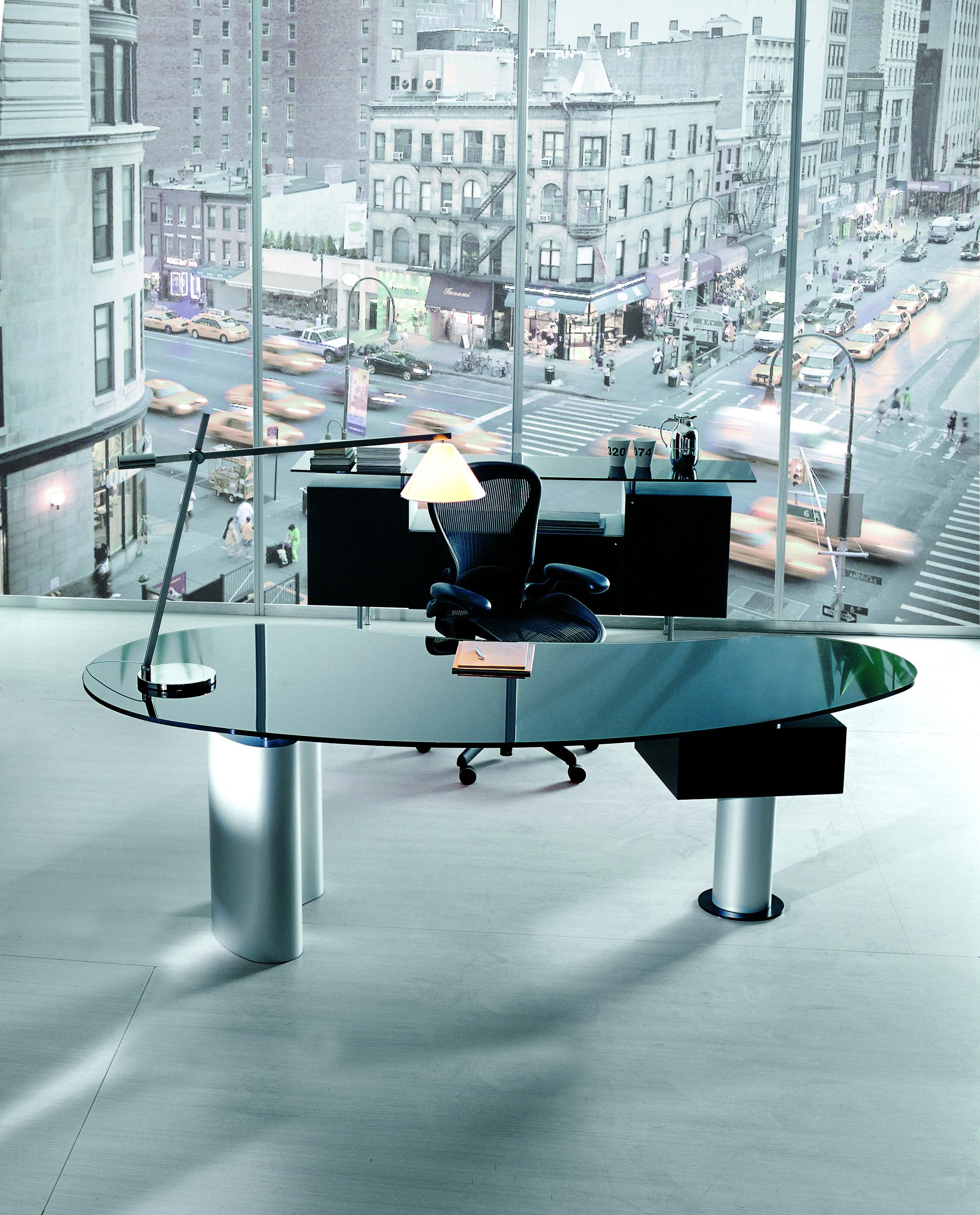 Working Table With Glass Table Top Houston, Cattelan Italia