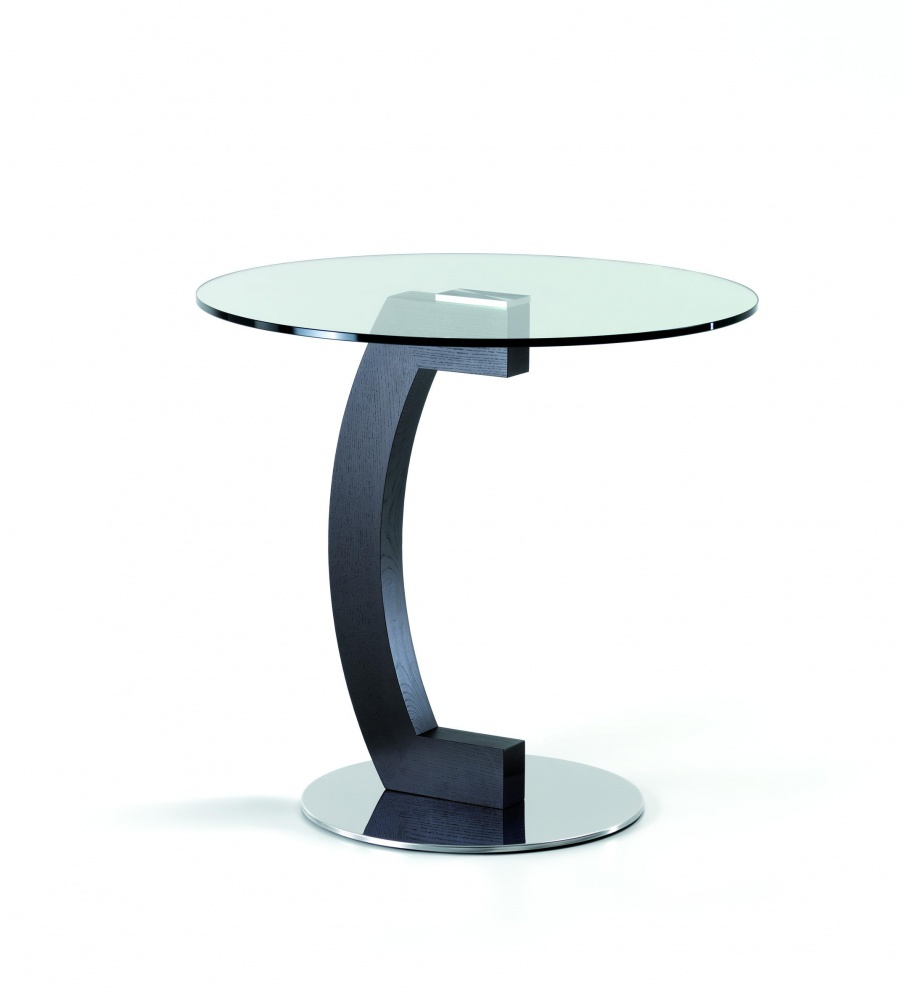 A table for dining made from steel and beech with glass top Kirk, Cattelan Italia