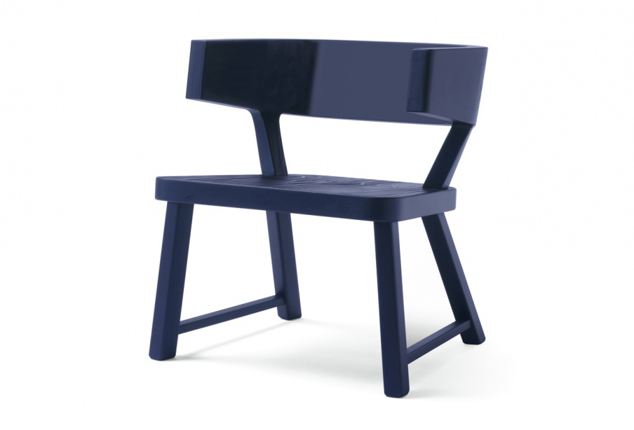 Neo Country Armchair With A Frame Made Of Wood Cappellini