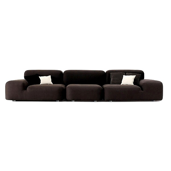 Modular Sectional Sofa With Metal Legs, Arflex