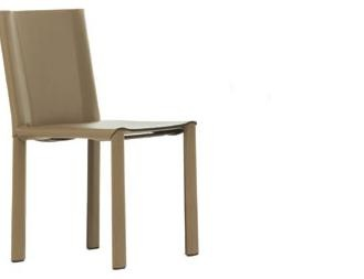 Chair Steel Framed Leather Upholstered Carol , Matteograssi