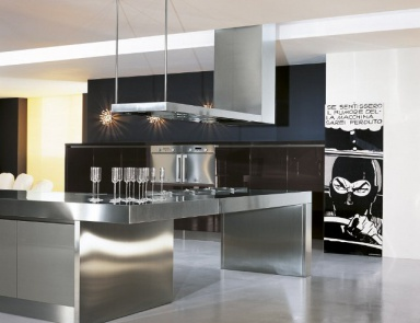 Set for the kitchen with a work area of steel People, Comprex