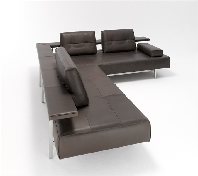 Corner Modular Sofa With Frame Made Of Stainless Steel