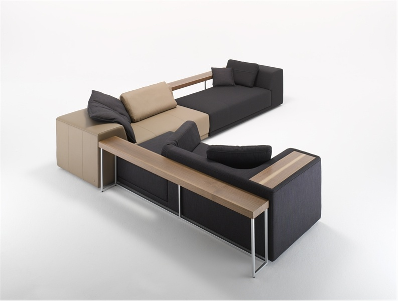 corner modular sofa on a hidden frame cosmo rolf benz luxury furniture mr. Black Bedroom Furniture Sets. Home Design Ideas