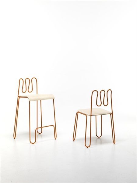 Chair without armrests, Osvaldo - Sintesi