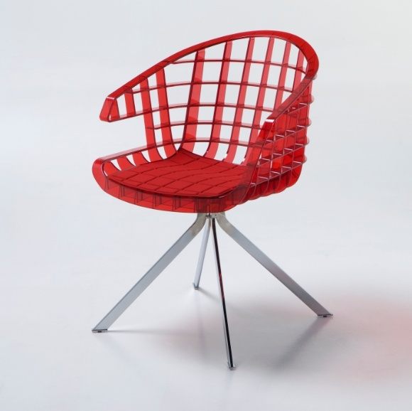 Chair with armrests, Webs - Sintesi