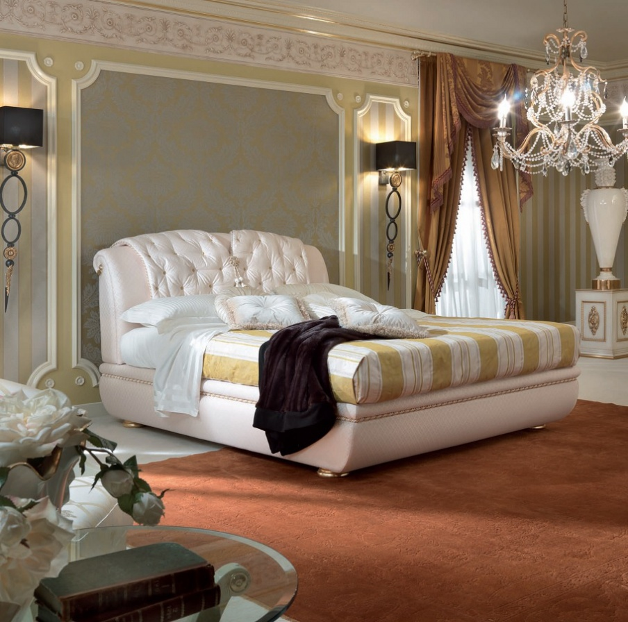 Double Bed With A Quilted Cover For Headboard Bed Doniss Turri Luxury Furniture Mr