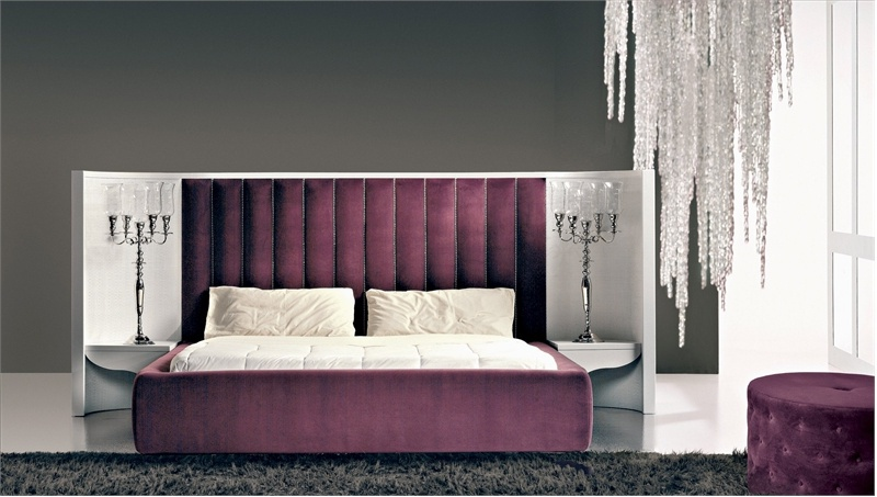 Double bed on a frame of wood wave bed rattan wood luxury furniture mr - Characteristics of contemporary platform beds ...