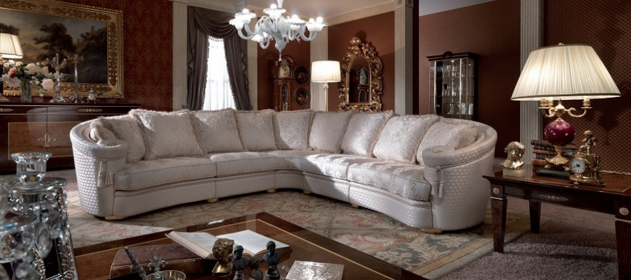 Sectional Sofa Solid Wood Milo Turri Luxury Furniture Mr