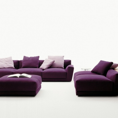 a modular sofa on a frame of steel luis b b italia luxury furniture mr. Black Bedroom Furniture Sets. Home Design Ideas