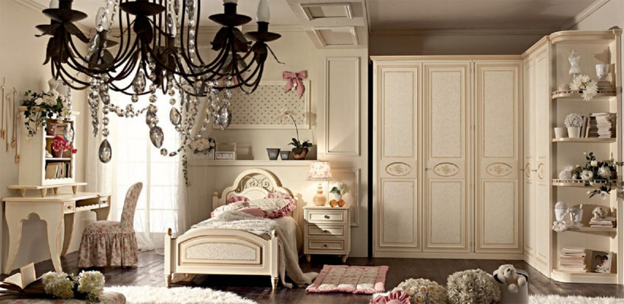 Set for children's bedrooms Patinated, Ebanisteria Bacci