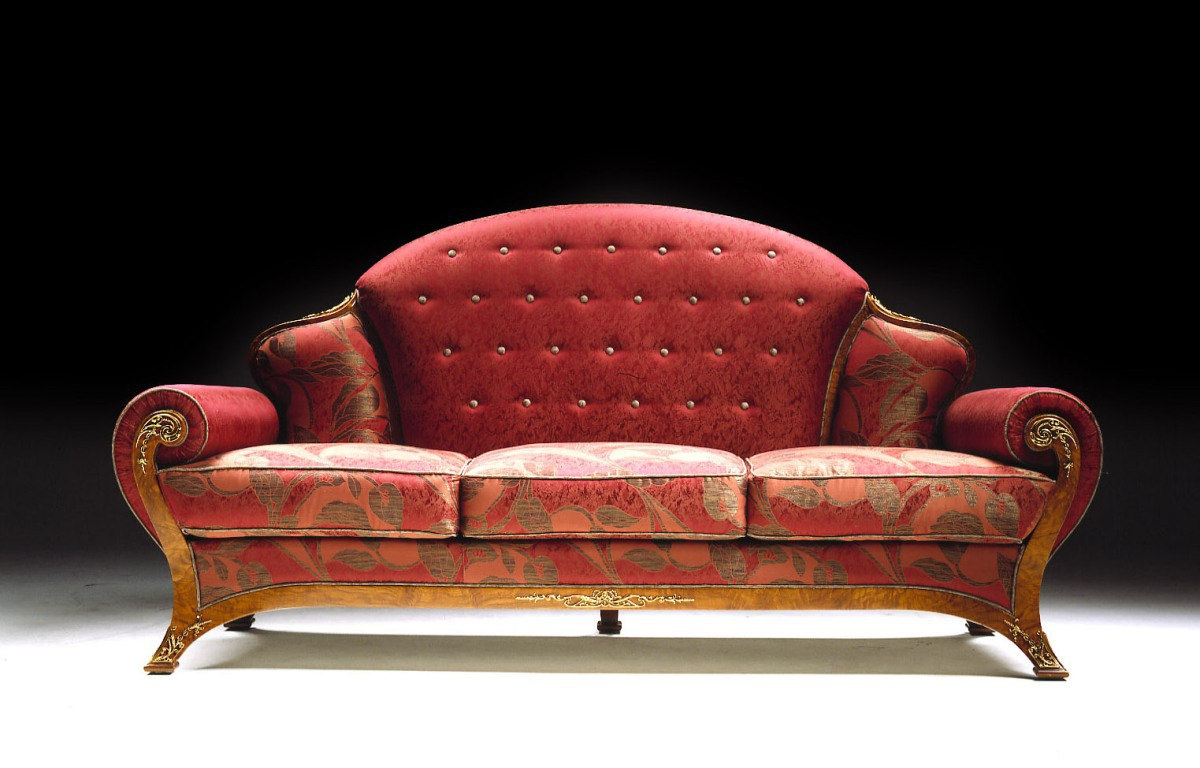 Three seater sofa citterio luxury furniture mr for Semi classic sofa