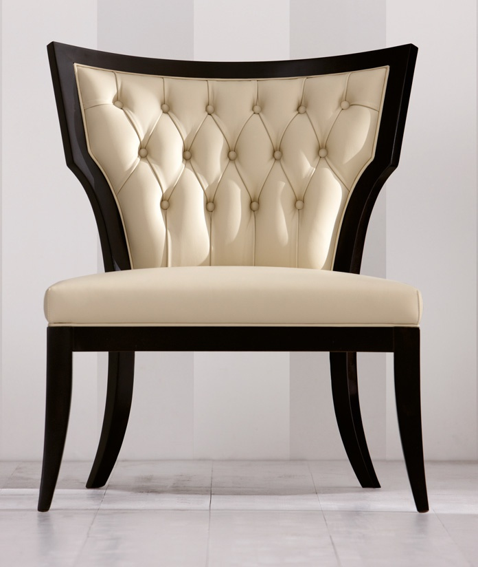 A chair without armrests Cleopatra Angelo Cappellini Luxury