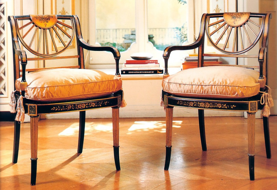 Chair Pauline NL.580 with armrests, Galimberti Nino
