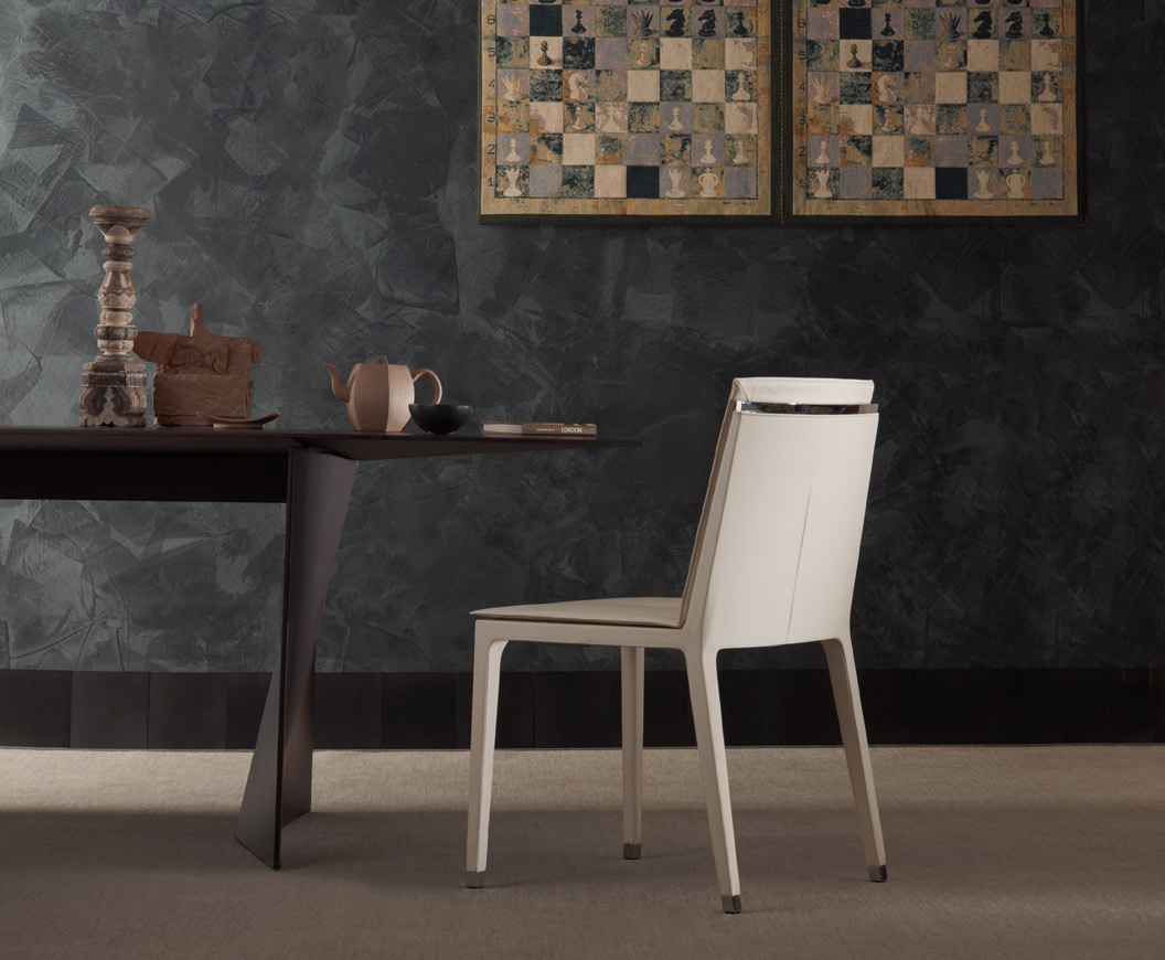 Chair with upholstery Fitzgerald Low Poltrona Frau