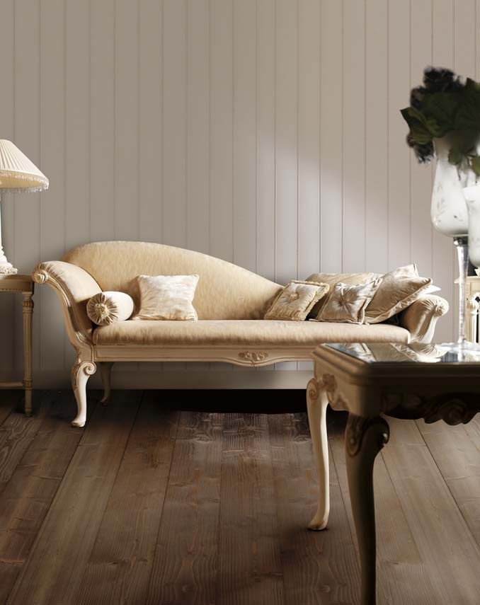 Daybed On A Wooden Frame Upholstered In Cloth Ambiente