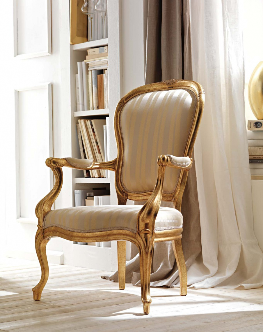 Chair made of solid wood in upholstery textiles Ambiente Notte ...