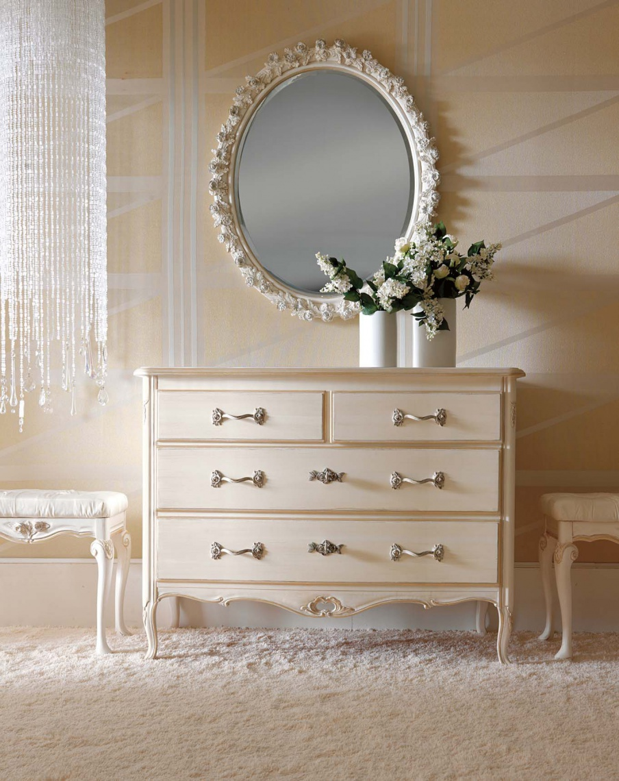 Dresser Made Of Wood With Four Drawers Ambiente Notte
