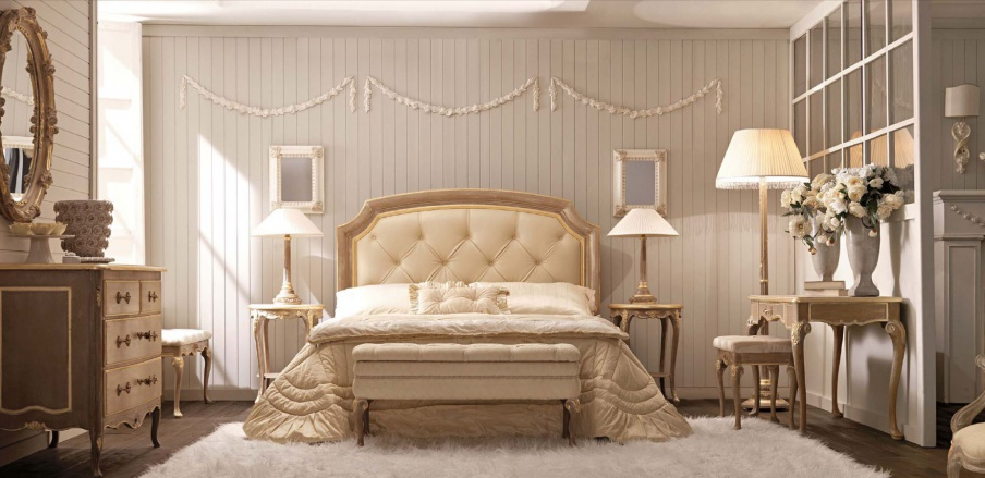 Set for bedroom made of solid wood Ambiente Notte, Savio Firmino