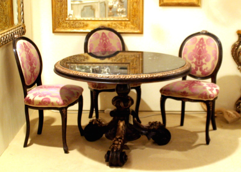 Round table, Calamandrei & Chianini( table chair for dining, Italy)