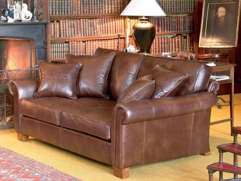 Sofa In Leather Upholstery Duresta