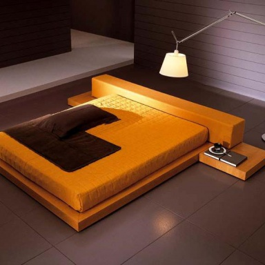 Double bed favero luxury furniture mr - Characteristics of contemporary platform beds ...