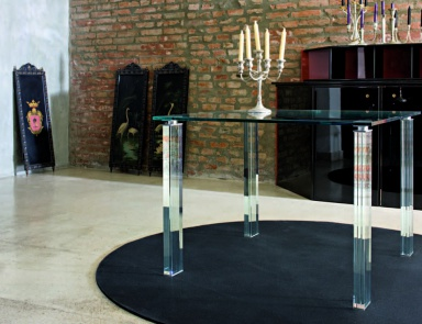 Dining table, Glass&Glass