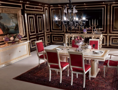 Dining Room (dining Set) Made Of Solid Wood Magna Plus, Turri
