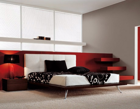 Double bed VANITY - tessuto from the Italian manufacturer Berloni