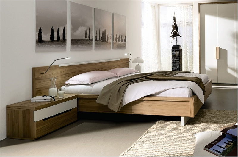 bedroom suite bedroom on a frame of natural wood hulsta. Black Bedroom Furniture Sets. Home Design Ideas