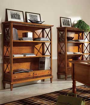 Bookcase bedside table with drawers,the Tosato - Luxury furniture MR