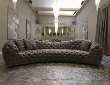 how to style a small bedroom the semicircular sofa in fabric ben ben arflex luxury 20589