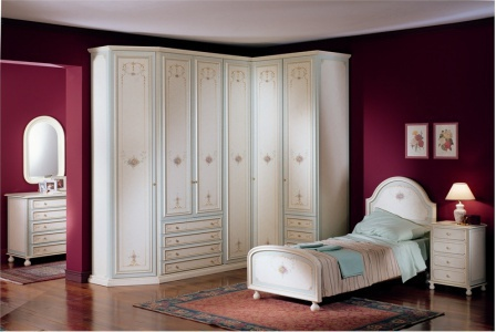 Bedroom set - bed, nightstand, wardrobe, dresser, Pellegatta