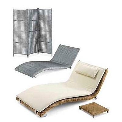 Deck chair on a metal frame, EMMANUELLE - Smania