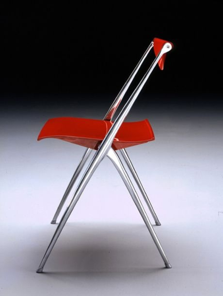 Chair with aluminium base, Yes, Bontempi Casa