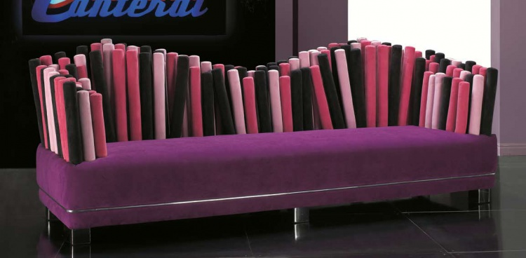 A sofa with a hidden frame, shanghai bouleward - Formitalia