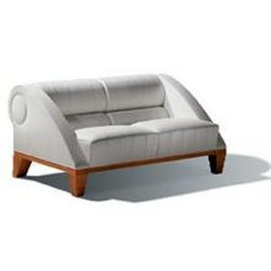 Three-seater sofa upholstered in leather or cloth Aries, Giorgetti