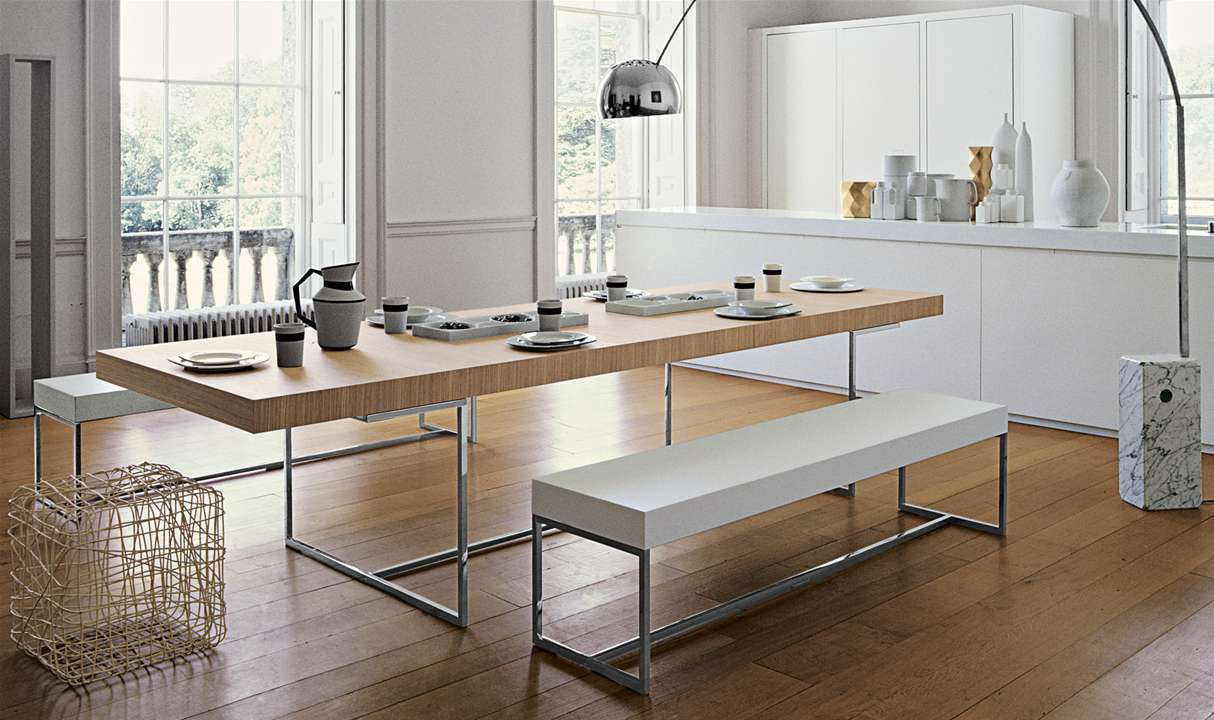 Dining table athos b b italia luxury furniture mr for B b design
