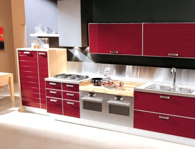 set for the kitchen from wood doge zaccariotto cucine