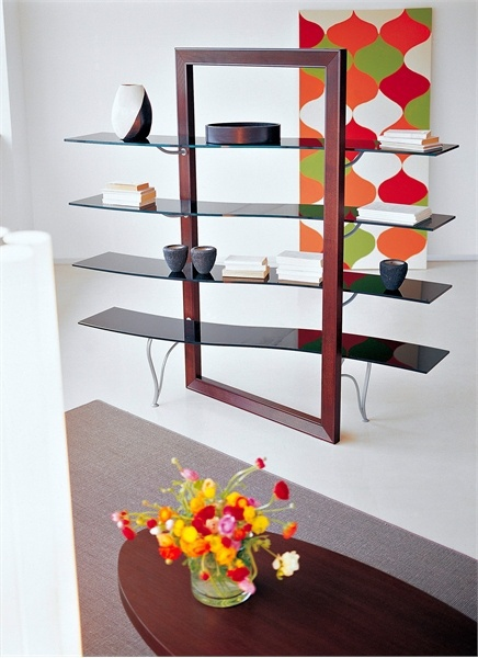 The book rack on a frame of solid beech FLEXA line, Cattelan Italia