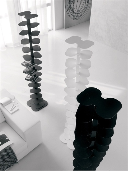 The book rack of steel DNA, Cattelan Italia