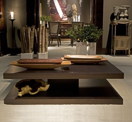 Coffee table wooden O1404/T, Annibale Colombo