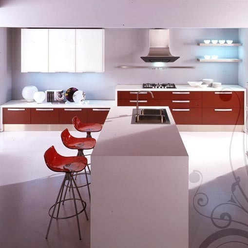 kitchen (Suite kitchen), a Gaia - Cucine LUBE - Luxury furniture MR