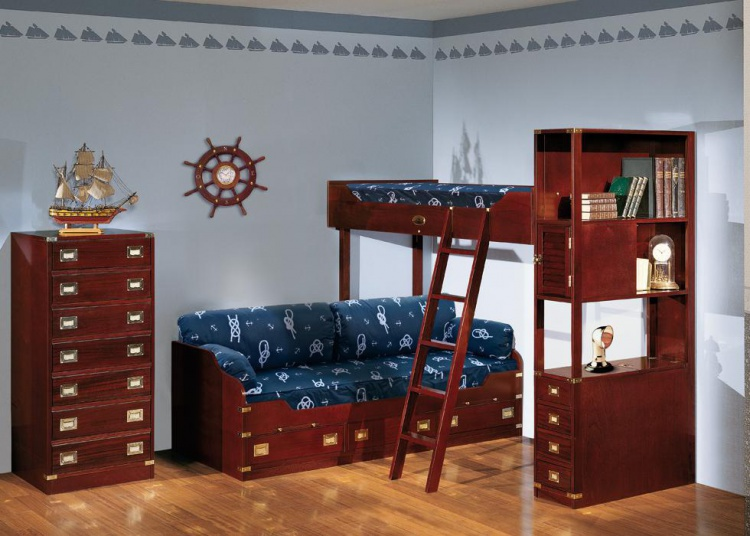 Children's bunk bed Vecchia Maria Caroti